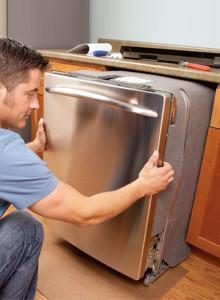 монтаж посудомойки