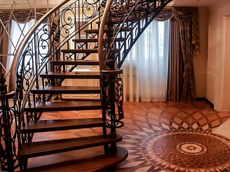 кованые лестницы в частном доме фото